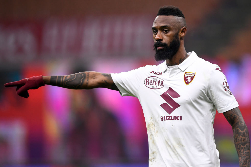 Nicolas NKoulou of Torino FC gestures during the Coppa...